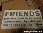 PARTIJ TEKSTBORD FRIENDS 30X15CM HOUT