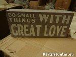 PARTIJ TEKSTBLOK WITH GREAT LOVE