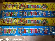 PARTIJ HAPPY BIRTHDAY CLOWN BALLON