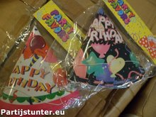 PARTIJ FEESTHOEDJES 6 STUKS HAPPY BIRTHDAY