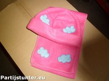 PARTIJ KIDS FLEECE WINTERSET 2 DELIG ROZE